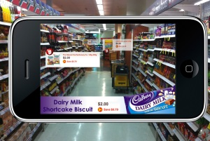 iPhone smartphone Grocery application